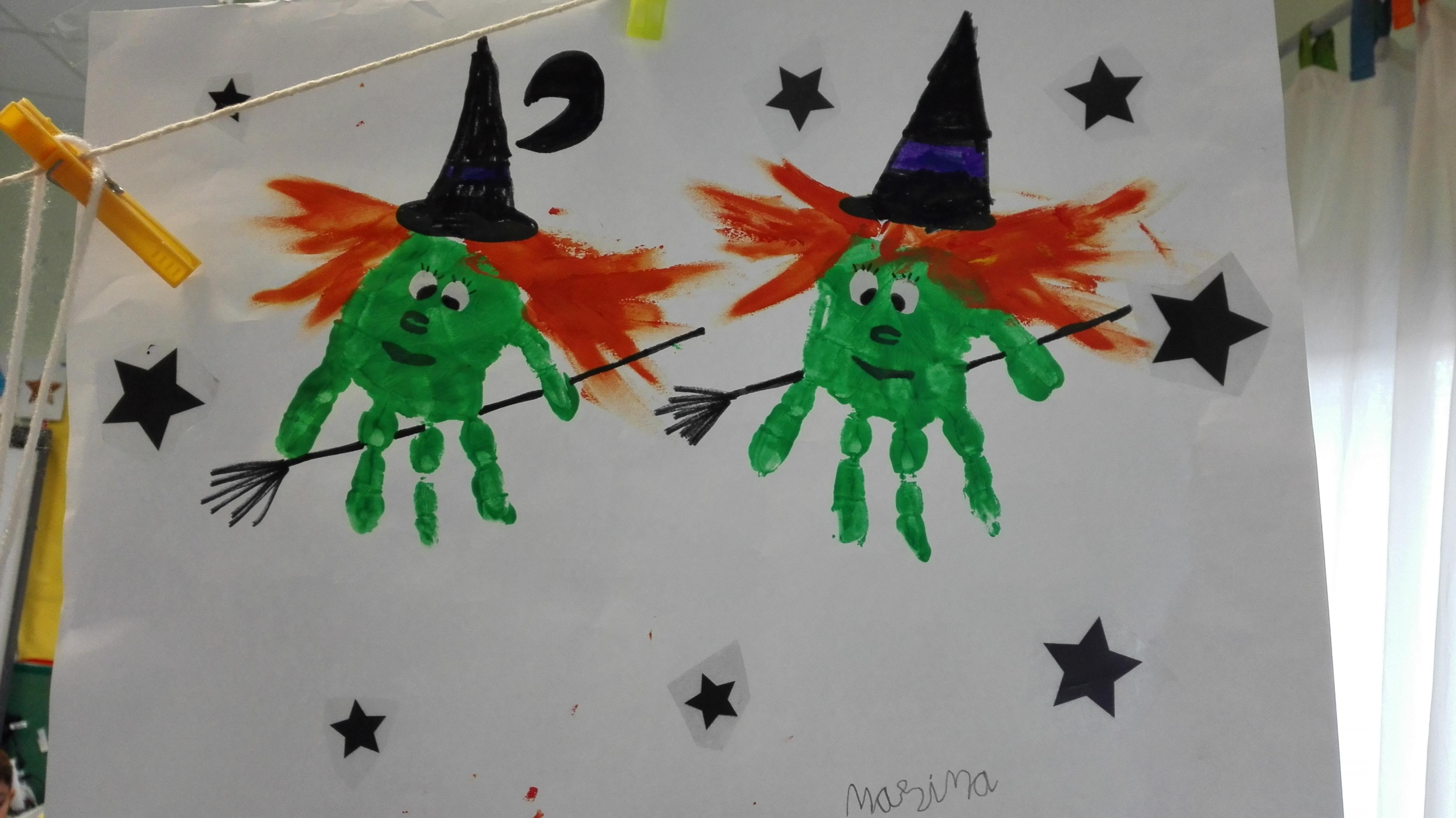 Manos-brujas Halloween