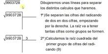 Cálculo de la raíz cuadrada de un número