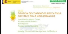 Mesa redonda: Difusión de Contenidos Educativos Digitales en la web semántica.