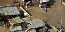 Vista aérea de chabolas, Rep. de Djibouti, áfrica