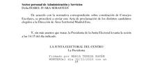 Acta proclamación candidatos elegidos