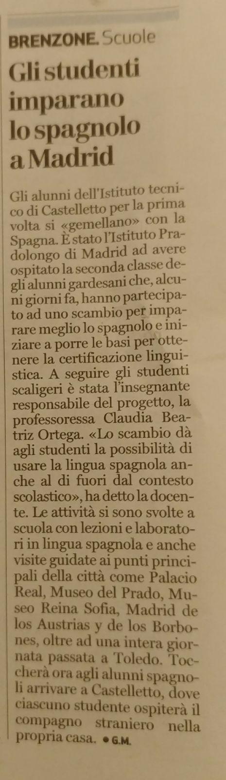Intercambio Italia 2018