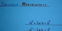 """Factorización Mental """"Igualdades Notables"""""""