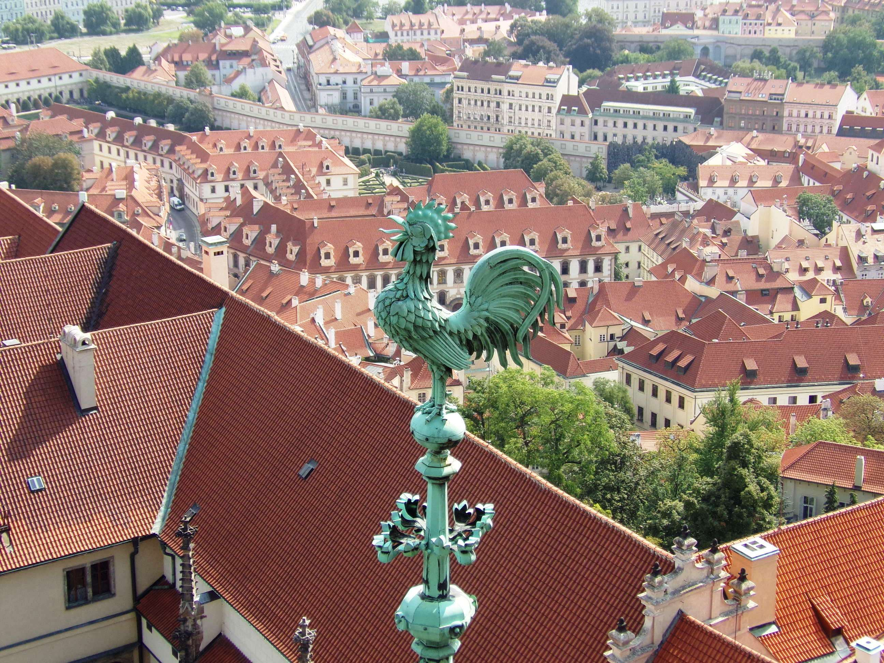 Coq cathédrale de saint Guy à Prague