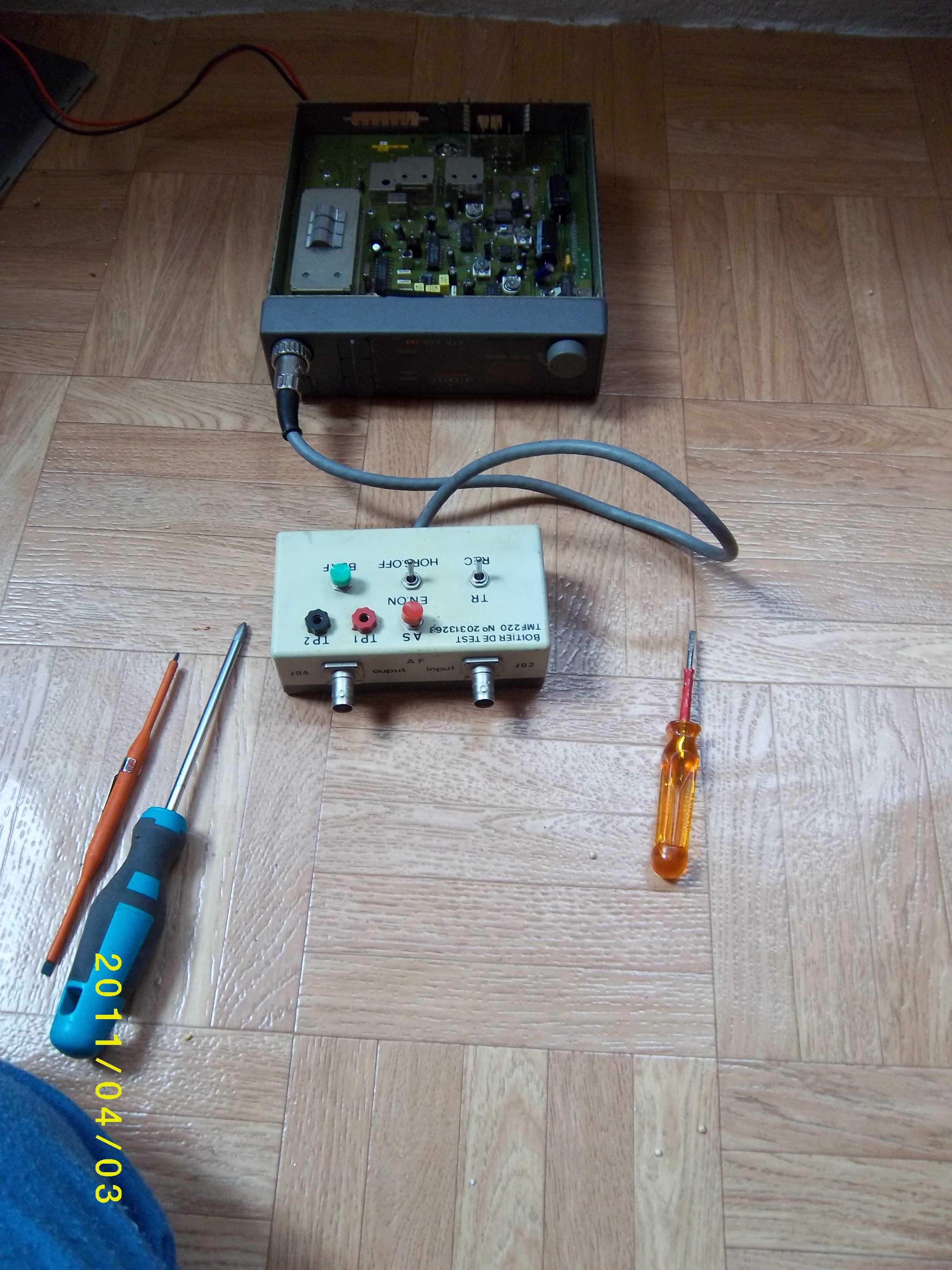Banco de reparación de equipos de radio PMR