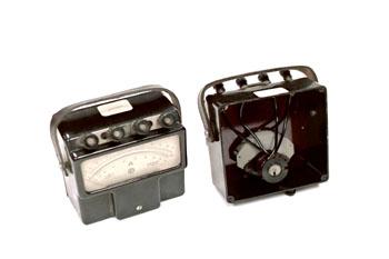 Amperímetro analógico, vista interior