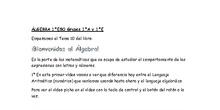 1ºA y 1ºE Lenguaje Algebraico parte 1 - 1º ESO