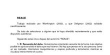 Ejercicio Perdón REACE. Seminario Atención plena y Fortalezas personales. IES Salvador Dalí. Curso 2020-21