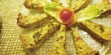 Porciones de quiche de verduras