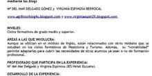 """""""Uso de las TIC en el módulo de Inglés de los ciclos formativos de Hostelería y Turismo mediante los"""
