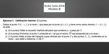 Ejercicios EvAU Julio 2018 Geometría