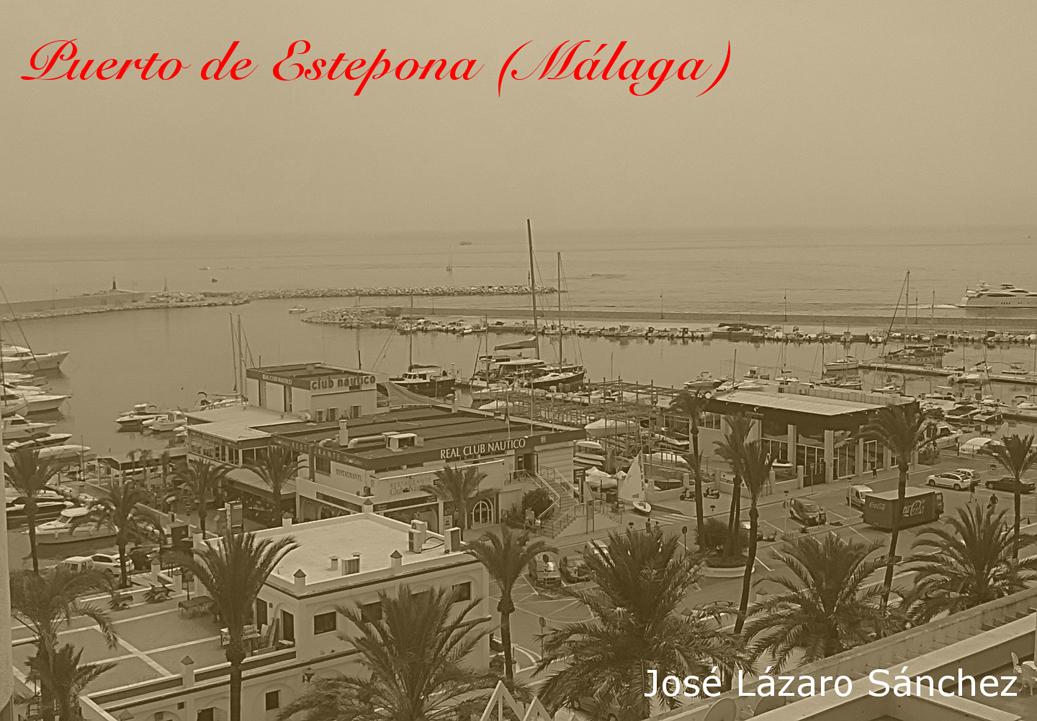 Puerto de Estepona... en sepia