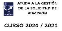 Ayuda a la gestión de la solicitud de admisión