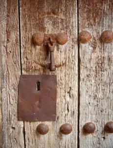 Detalle de herraje de puerta