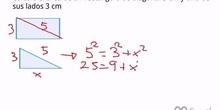 Cálculo del área de un rectángulo conocido un lado y su diagonal