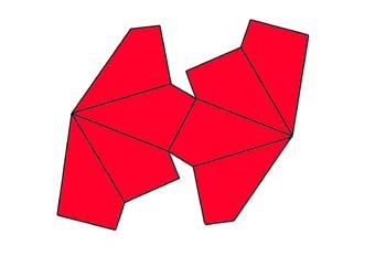 Desarrollo de un trapezoedro tetragonal