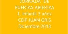 Puertas abiertas CEIP JUAN GRIS  diciembre 2018