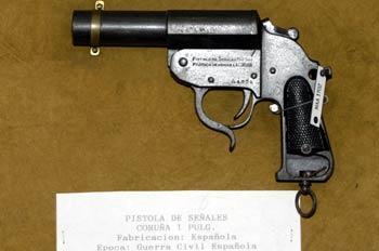 Pistola de señales Coruña 1 Pulg., Museo del Aire de Madrid