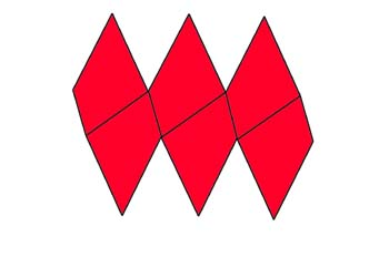 Desarrollo de un trapezoedro trigonal