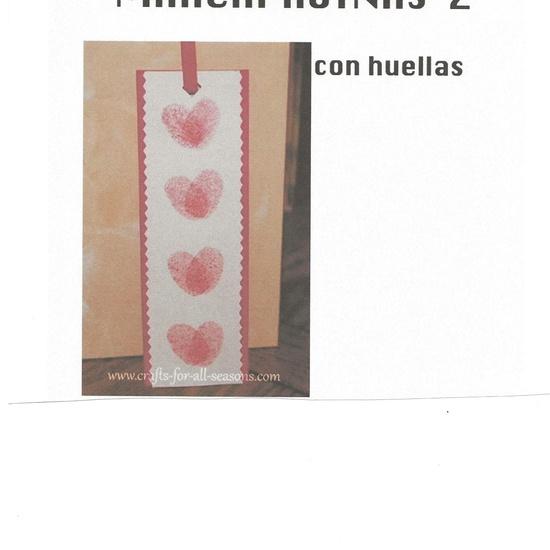 marcapaginas realizado con huellas de dedos 2º trabajo plástica