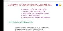 Definición de reacción y ajuste