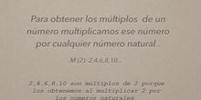 PRIMARIA - 6º - MATEMÁTICAS - MÚLTIPLOS - FORMACIÓN