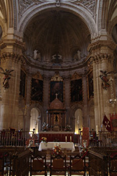 Altar Mayor de la Catedral de Guadix, Granada, Andalucía