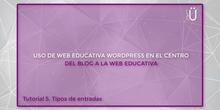 Curso Wordpress básico. Tutorial 5. Tipos de entradas