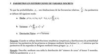 Cálculo de parámetros en distribuciones de probabilidad
