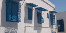 Fachada, Sidi Bou Said, Túnez