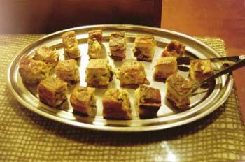 Tacos de pastel de verduras