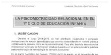 Psicomotricidad relacional en Educación Infantil de 1º ciclo
