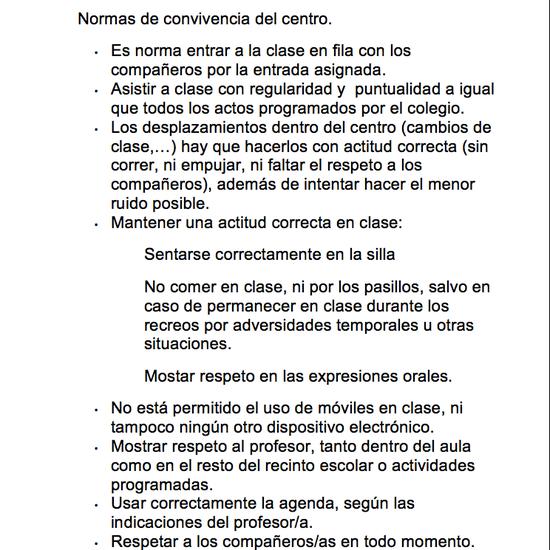 Normas de convivencia Ceip Ágora Brunete 9