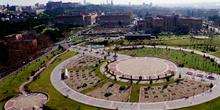 Vista aérea de un parque