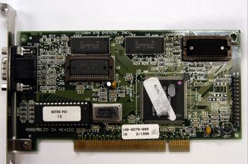Vista de componentes de las tarjetas gráficas tipo PCI
