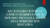 Proyecto de Seminario de Formación IES Enrique Tierno Galván