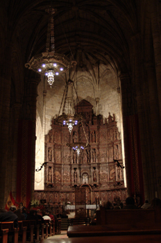 Altar mayor, Catedral de Cáceres