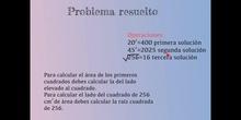 SECUNDARIA - 1º ESO B - MATEMÁTICAS - PROBLEMA DE RAÍCES Y GEOMETRÍA - FORMACIÓN