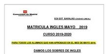 matriculación inglés mayo 2019