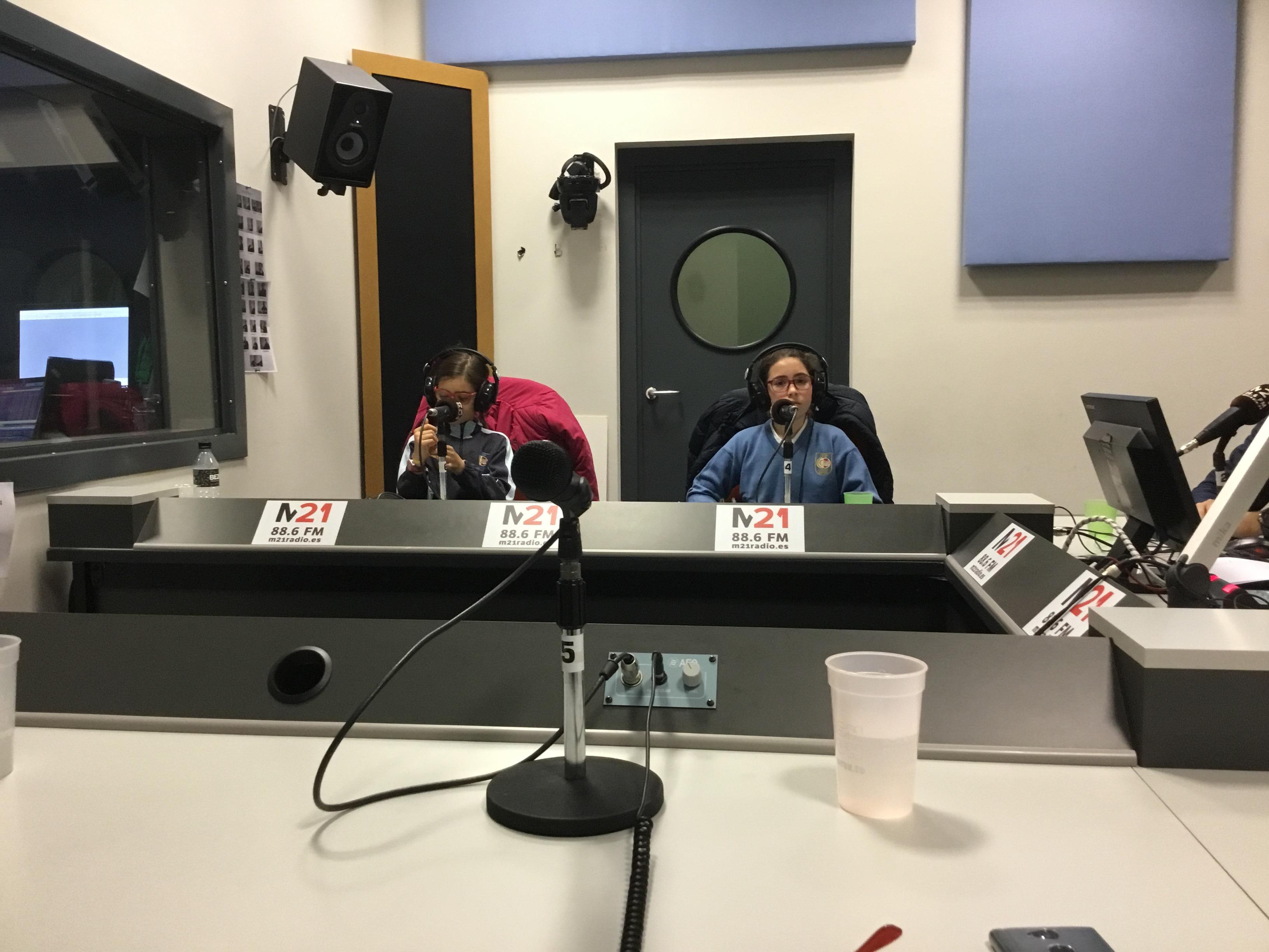 Visita a la radio 1