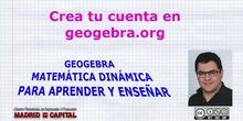 Como crear una cuenta en geogebra.org