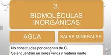 Tema7-2 BIOMOLÉCULAS INORGÁNICAS