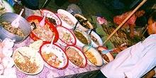 Detalle de platos gastronómicos laosianos, Laos