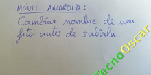 Móvil Android: cambiar el nombre de una foto