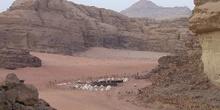 Asentamiento en las afueras de Petra, Jordania