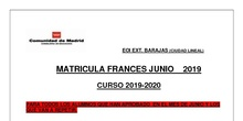 Matrícula francés junio 2019