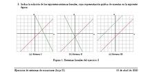 Ejercicios de sistemas lineales 2º ESO Hoja (II)