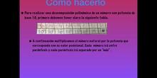 PRIMARIA - 6º - DESCOMPOSICIÓN POLINÓMICA - MATEMÁTICAS