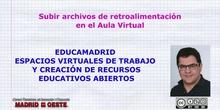 Archivos retroalimentación en AV. Subir un examen.