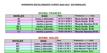Horario 2020 modificado